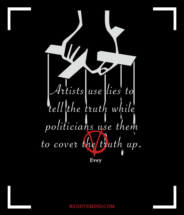 V For Vendetta Quotes Artists Use Lies To