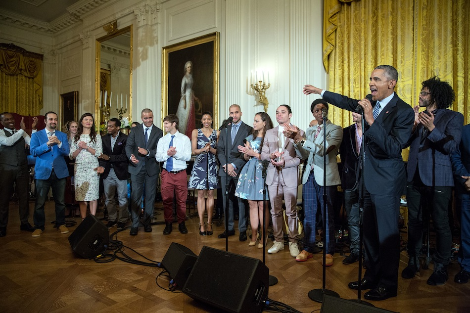 the hamilton cast with barack obama