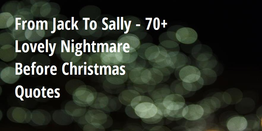 From Jack To Sally - 70+ Lovely Nightmare Before Christmas ...