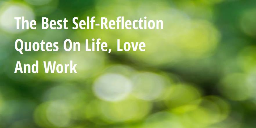 The Best Self Reflection Quotes On Life Love And Work Big Hive Mind